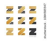 set of letter z logo design  | Shutterstock .eps vector #1084585547