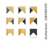 set of letter w logo design    Shutterstock .eps vector #1084585559
