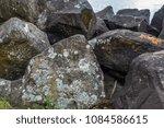 lichen covers huge boulders at... | Shutterstock . vector #1084586615