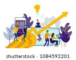 illustration of virtual... | Shutterstock . vector #1084592201