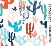 cute hand drawn seamless... | Shutterstock . vector #1084592285