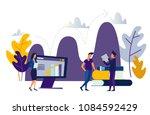 business people flat... | Shutterstock . vector #1084592429
