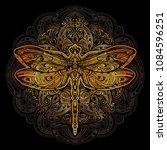exquisite golden ornate... | Shutterstock .eps vector #1084596251