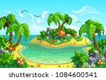 tropical islands with fantastic ... | Shutterstock .eps vector #1084600541