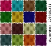 patchwok knitted background... | Shutterstock .eps vector #1084601651