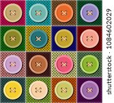 patchwok knitted background... | Shutterstock . vector #1084602029