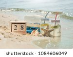 Small photo of Calendar on the beach since September 28, World Sea Day