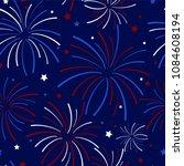 fireworks and stars seamless...   Shutterstock .eps vector #1084608194