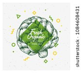 organic market design template. ... | Shutterstock .eps vector #1084608431