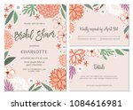 bridal shower invitation and... | Shutterstock .eps vector #1084616981