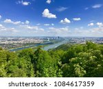 danube river donau canal viewed ...   Shutterstock . vector #1084617359