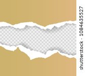 torn paper background with... | Shutterstock .eps vector #1084635527