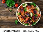 chicken wings of barbecue in... | Shutterstock . vector #1084639757