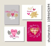 happy mother's day.  collection ... | Shutterstock .eps vector #1084642694