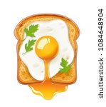 sandwich with fried egg. fast... | Shutterstock .eps vector #1084648904
