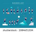 vector flat illustration with... | Shutterstock .eps vector #1084651334
