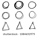doodle vector circles and... | Shutterstock .eps vector #1084652975