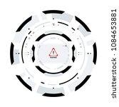 futuristic sci fi vr hud circle ...