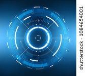 futuristic sci fi vr hud circle ...   Shutterstock .eps vector #1084654001