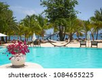 antigua  caribbean islands ... | Shutterstock . vector #1084655225