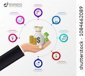infographic design template.... | Shutterstock .eps vector #1084662089