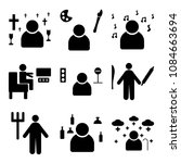 set of 9 simple editable icons... | Shutterstock .eps vector #1084663694