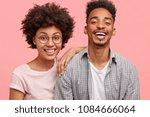 positive dark skinned guy has... | Shutterstock . vector #1084666064