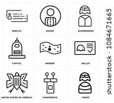 set of 9 simple editable icons... | Shutterstock .eps vector #1084671665