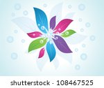abstract flower background | Shutterstock .eps vector #108467525