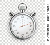 stopwatch on the checked... | Shutterstock .eps vector #1084678064