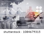 financial report data of... | Shutterstock . vector #1084679315