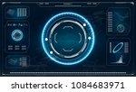 radar screen. hud. futuristic... | Shutterstock .eps vector #1084683971