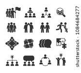 vector image set of team work... | Shutterstock .eps vector #1084684277