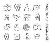 vector image set of wedding...   Shutterstock .eps vector #1084684289