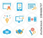 set of 9 simple editable icons... | Shutterstock .eps vector #1084686737