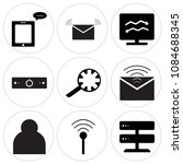 set of 9 simple editable icons... | Shutterstock .eps vector #1084688345