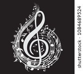 music note background with... | Shutterstock .eps vector #1084689524