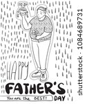 happy father's day greeting... | Shutterstock .eps vector #1084689731