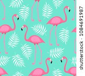 seamless trendy tropical... | Shutterstock .eps vector #1084691987