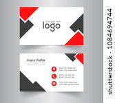 creative business card and name ... | Shutterstock .eps vector #1084694744