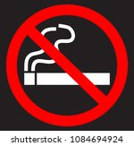 no smoking flat icon | Shutterstock .eps vector #1084694924