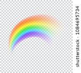 realistic vector rainbow icon.... | Shutterstock .eps vector #1084695734