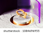 golden comments icon with... | Shutterstock . vector #1084696955