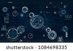 hud. radar screen.circle... | Shutterstock .eps vector #1084698335