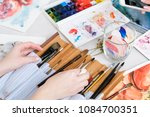 art painting inspiration... | Shutterstock . vector #1084700351