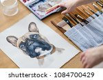 art painting. inspiration and... | Shutterstock . vector #1084700429