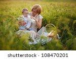 happy mother with baby having... | Shutterstock . vector #108470201