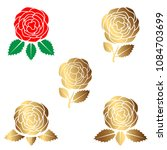 beauty rose logo  sign  symbol... | Shutterstock .eps vector #1084703699