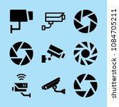 filled camera icon set such as... | Shutterstock .eps vector #1084705211