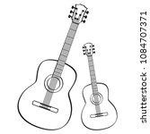 guitar music instrument icon... | Shutterstock .eps vector #1084707371